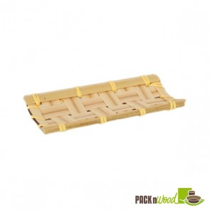 KOBE - Rectangular Bamboo Mat - 4.1 x 2 in.