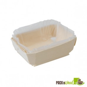 Wooden Baking Mold - 4.7 x 3.3 x 1.5 in.