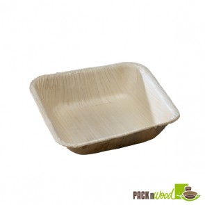 PALQUAD - Palm Leaf Square Bowl - 4.7 x 1.2 in.