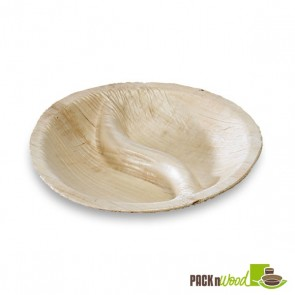 Yin Yang Shaped Palm Leaf Dish - DIA 3.5 in.