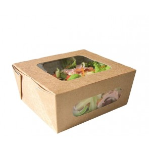 Kraft Salad Box With 2 Clear Windows