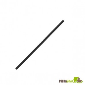 Compostable Black Cocktail Paper Straws - 5.7 in.
