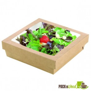 Kraft Box With Clear Window Lid - 7.1 x 7.1 x 2""