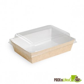 Brown Paper Salad Box - 6.7 x 4.8 x 1.8 in.