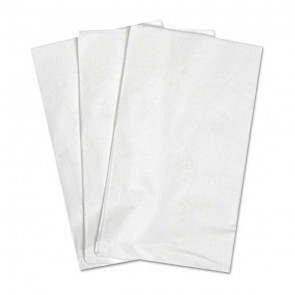 "15"" x 17"" 2-Ply White Dinner Napkin"