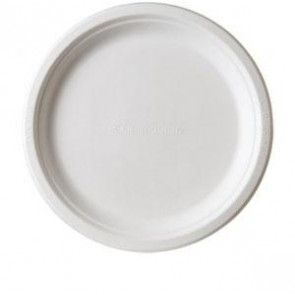 "9"" Round Sugarcane Plate (EP-P013) - Case of 500"