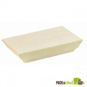 Wooden Lid for Samurai - Rectangular Wooden Dish - 5.1 x 2.5 x 0.79 in.