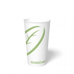 20 oz. Ecotainer Biodegradable Hot Cup / Coffee Cup, Compostable
