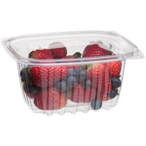 16oz Rectangular Corn Plastic Deli Food Containers