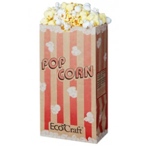 46 oz. EcoCraft Popcorn Bag Compostable and Recylable