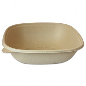 48oz Compostable Square Plant Fiber Bowl