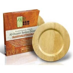 """11"""" Bamboo Round Plates"""