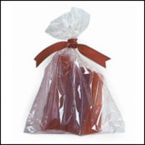 "3"" X 1-3/4"" X 8-1/4"" Biodegradable Gusseted Cellophane Bags"