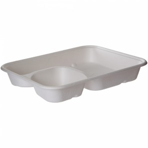 WorldView Sugarcane 2-compartment Tray