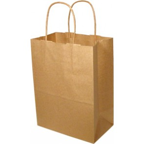 "8"" x 4.5"" x 10"" Duro Shopping Bag, 250 per Case"