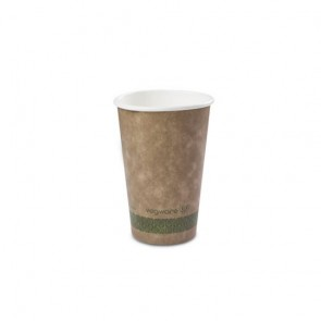 16 oz. Kraft Compostable Hot Cup