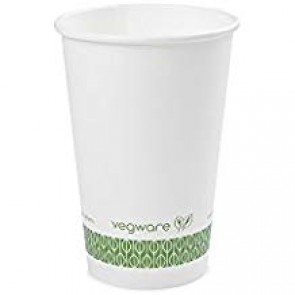 Compostable 16 oz. White Hot Cup