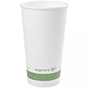 Compostable 20 oz. White Hot Cup