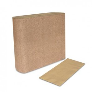 "Tork 100% Recycled Natural Dinner Napkin Unbleached, Universal, 3 1/2"" x 8 1/2"""