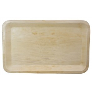 """16"""" x 10"""" Compostable Catering Rectangle Palm Tray"""