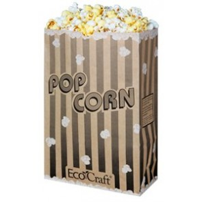 170 oz. EcoCraft Popcorn Bag, (300614), Compostable and Recylable