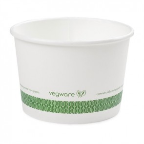 Compostable 16 oz. White Soup or Frozen Yogurt Cup