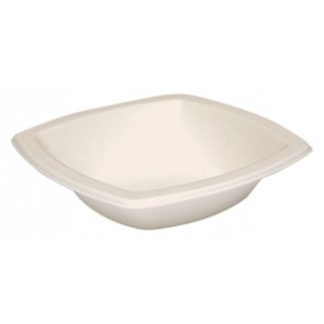 12 oz. Square Sugarcane Biodegradable Bowl