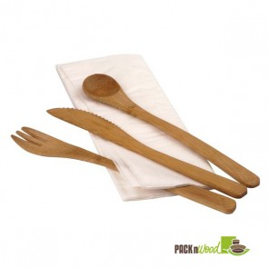 4 piece Bamboo Cutlery Kit - 7.49 in.