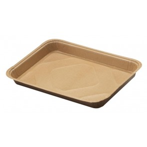 "18"" x 13"" Natural Kraft Half Sized Corrugated Sheet Pan"