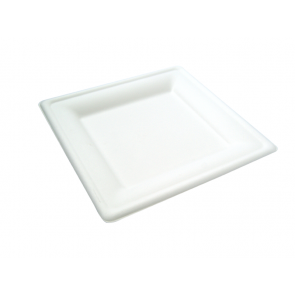 "8"" Square Bagasse Plate"
