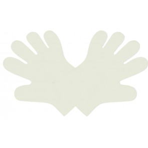 Medium White Compostable Food Gloves