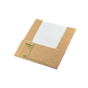 "8 x 9"" Hot & Crispy Compostable Pouch and Wrap"