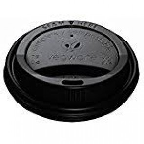 Black LID for Vegware 10/12/16/20oz Hot Cups