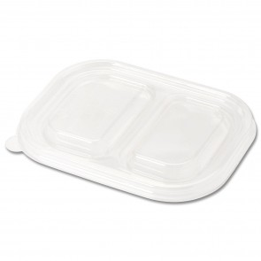 LID for 2-Compartment Wheatstraw Tray